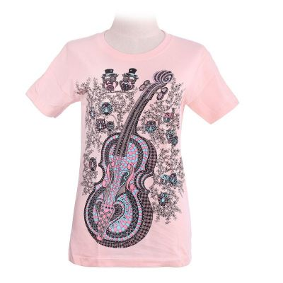 T-shirt Violin Light Pink