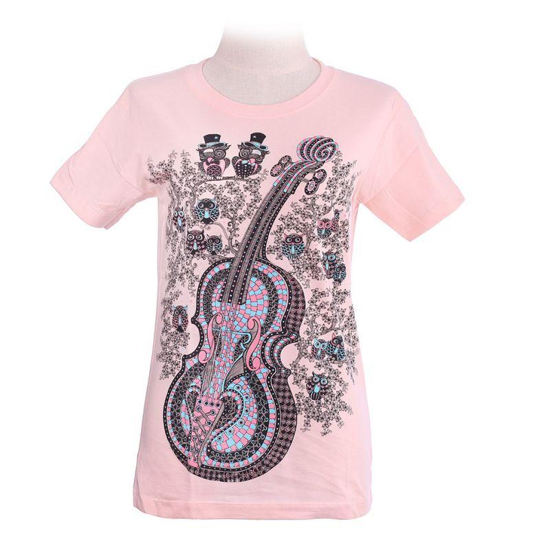 Women's t-shirt Violin Light Pink
