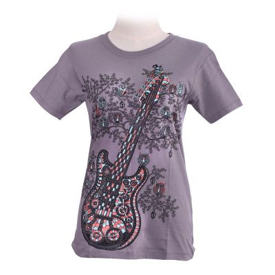 T-shirt Guitar Grey