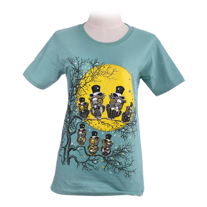 Women's t-shirt Full Moon Green