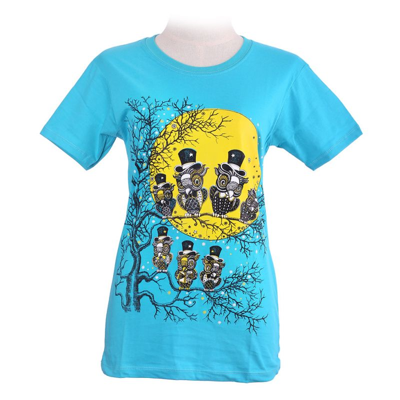 Women's t-shirt Full Moon Turquoise