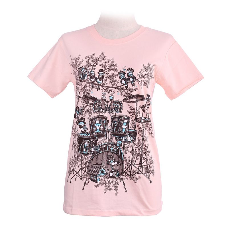 Women's t-shirt Drum Set Light Pink