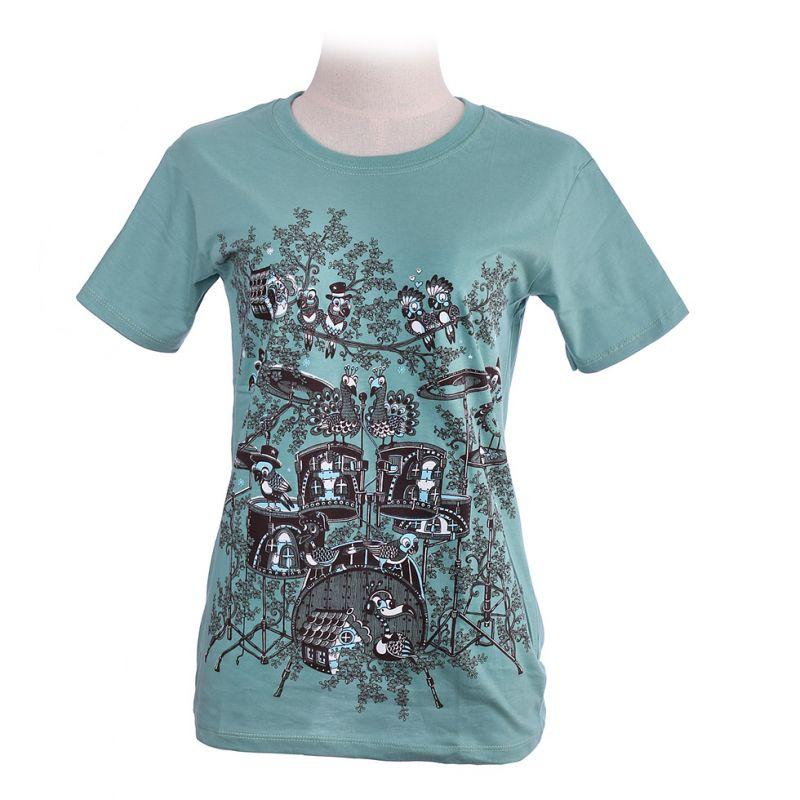 Women's t-shirt Drum Set Green