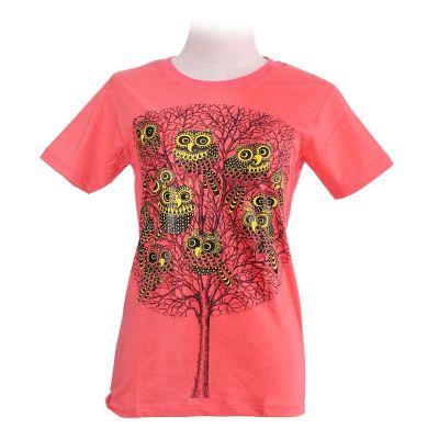 T-shirt Eleven Owls Pink