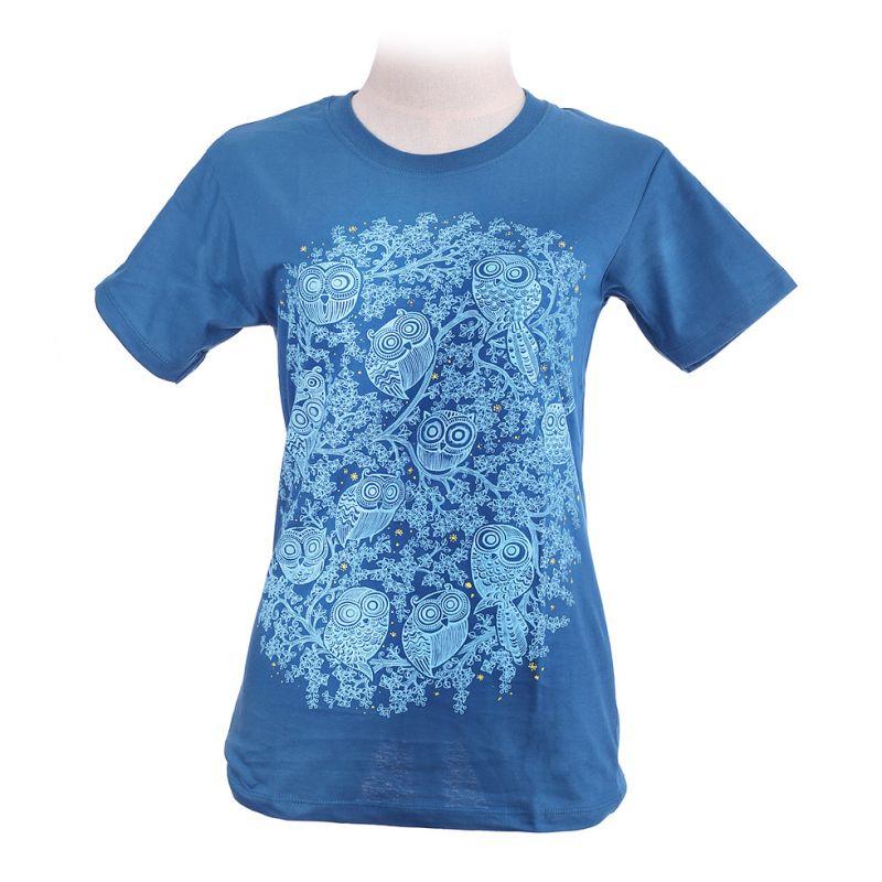 Women's t-shirt Twelve Owls Turquoise