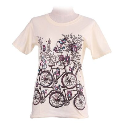 T-shirt Bicycles Light Yellow