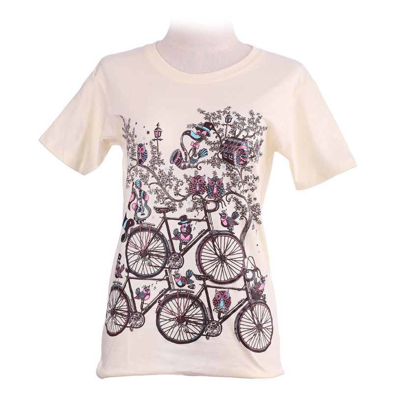 Women's t-shirt Bicycles Light Yellow