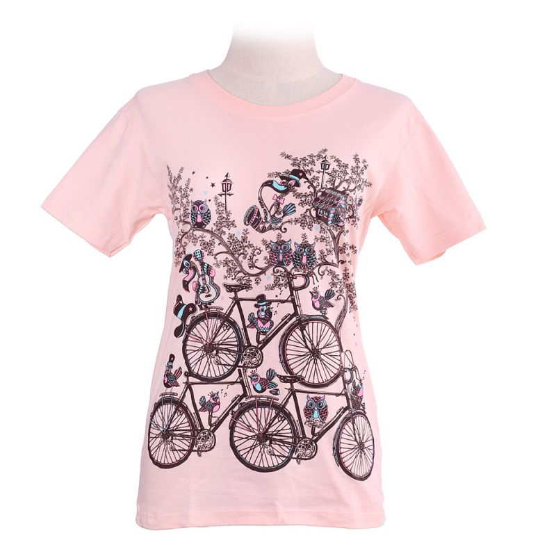 Women's t-shirt Bicycles Light Pink