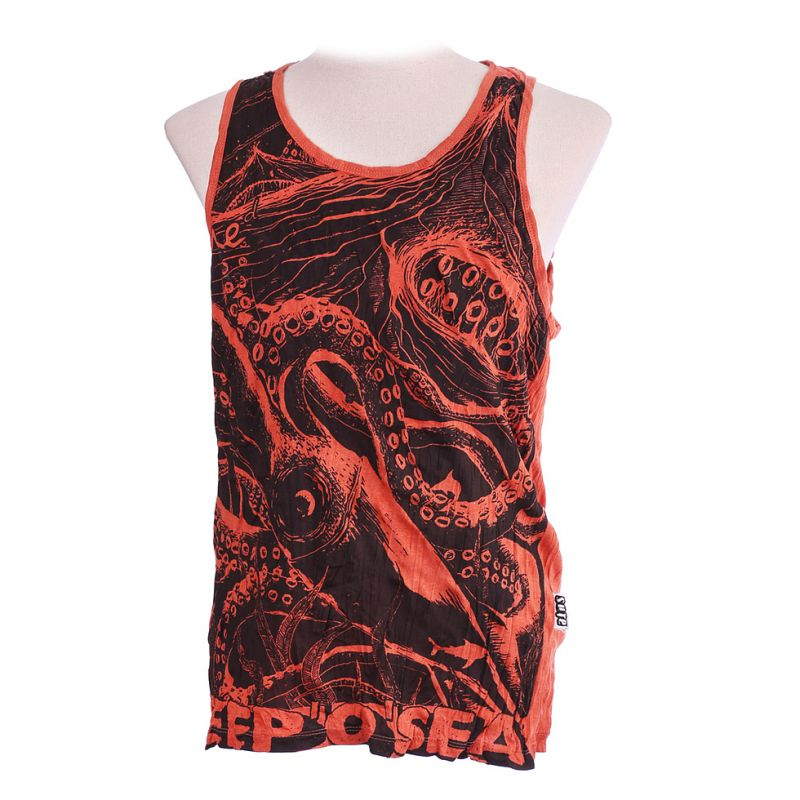 Men's tank top Sure Octopus Orange