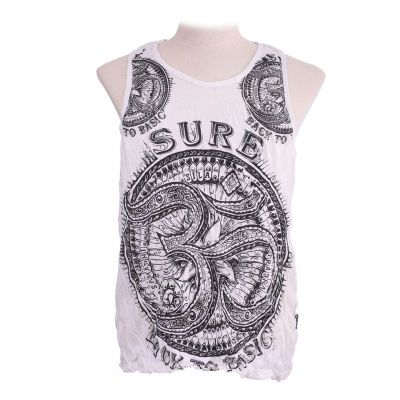 Men's tank top Sure Om White