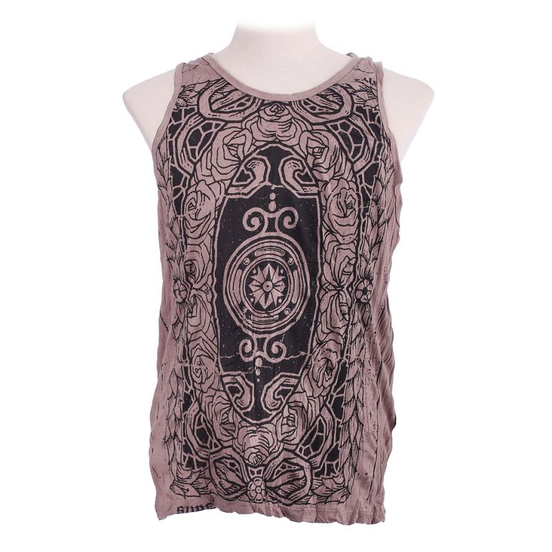 Men's tank top Sure Stained Glass Brown
