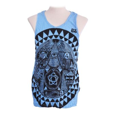 Men's tank top Sure Pyramid Blue