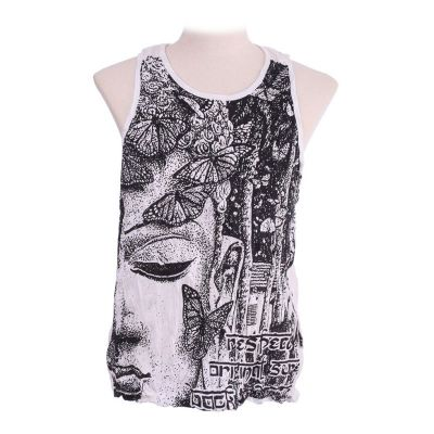 Tank top Sure Buddha's Butterflies White