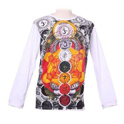 Mirror T-shirt with long sleeves - Chakras