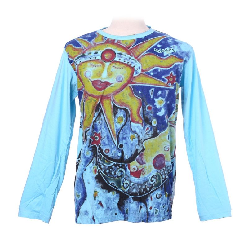 Mirror T-shirt with long sleeves - Sun&Moon