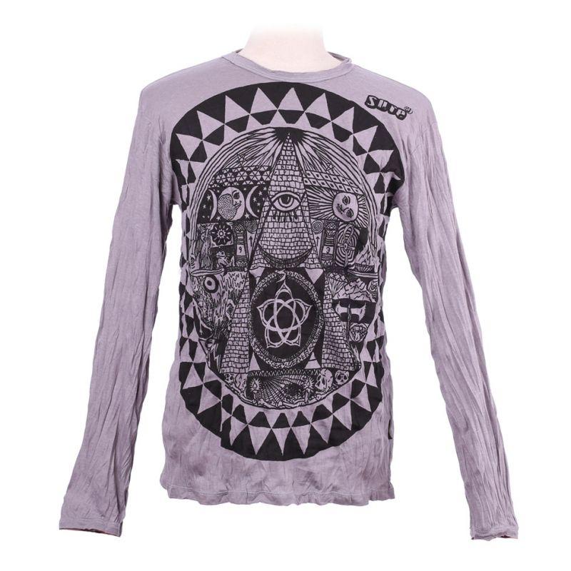 Men's t-shirt Sure with long sleeves - Pyramid Grey
