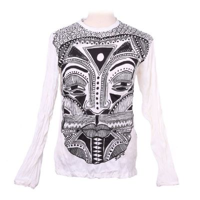 T-shirt Khon Mask White - long sleeve