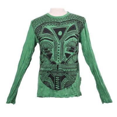 T-shirt Khon Mask Green - long sleeve