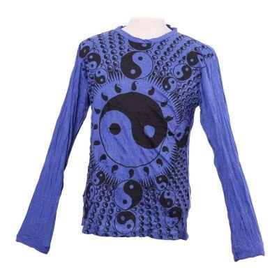 Men's t-shirt Sure with long sleeves - Yin&Yang Blue