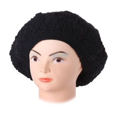 Háčkovaný baret Laras Black