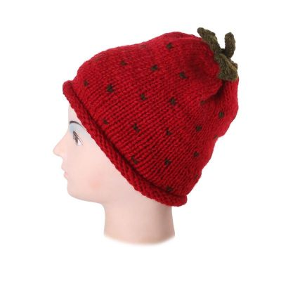 Hat Strawberry without pompons
